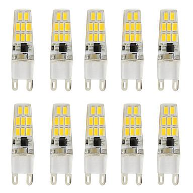 10 stuks 3W 200 lm G9 2-pins LED-lampen T 16 leds SMD 5730 Warm wit Koel wit AC 12V