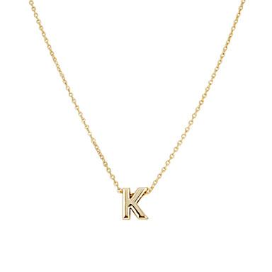 Kadın's Monogramlar Uçlu Kolyeler - Arkadaşlar minimalist tarzı, Moda W, X, Z Kolyeler Mücevher 1pc Uyumluluk Parti, Hediye, Günlük
