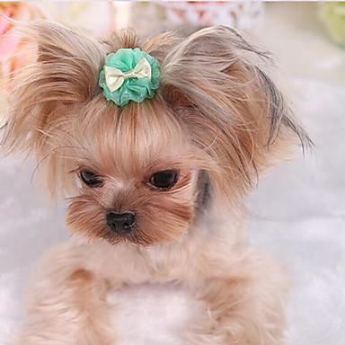 Hund Krawatte/Fliege Hundekleidung Niedlich Lässig/Alltäglich Modisch Solide Purpur Grün Rosa Hellblau Kostüm Für Haustiere