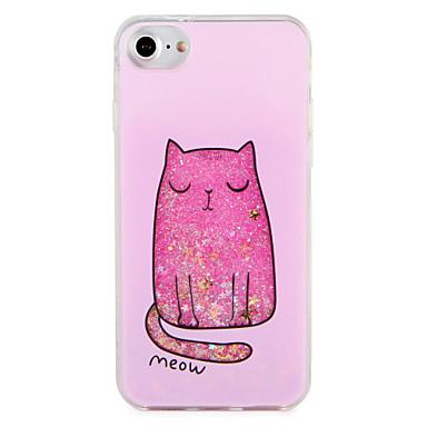 Fall für Apfel iphone 7 7 plus Katze Glitter Glanz Muster harten PC 6s plus 6 plus 6s 6
