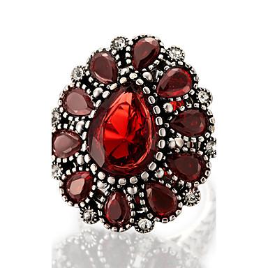 Damen Statementringe Ring Personalisiert Luxus Einzigartiges Design Retro Modisch Euramerican Schmuck mit Aussage Harz Aleación