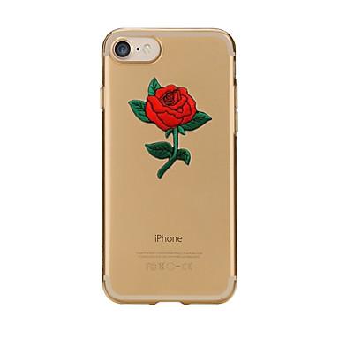 Voor iPhone X iPhone 8 Hoesje cover Transparant Patroon Achterkantje hoesje Bloem Zacht TPU voor Apple iPhone X iPhone 7s Plus iPhone 8