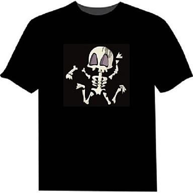 LED T-shirts 2 AAA Batterijen