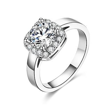 Dames Ring Zirkonia Gepersonaliseerde Meetkundig Cirkelvormig ontwerp Uniek ontwerp Vintage Bohémien Standaard Natuur Cirkel Vriendschap
