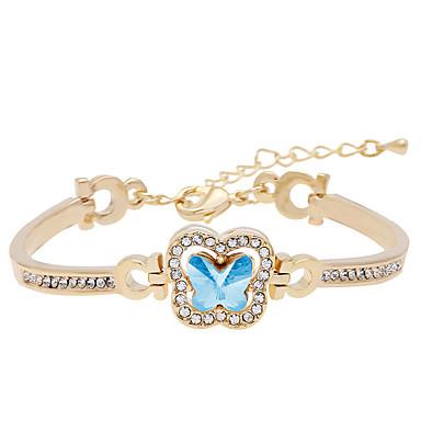 للمرأة أساور السلسلة والوصلة مجوهرات قديم الطبيعة موضة مصنوع يدوي كريستال سبيكة Oval Shape غير منتظم مجوهرات من أجل زفاف حزب الذكرى