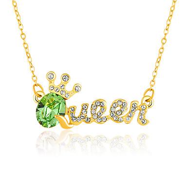 للمرأة قلائد الحلي مجوهرات مجوهرات كريستال سبيكة تصميم فريد موضة euramerican في مجوهرات من أجل حزب الغير حفلة ليلية