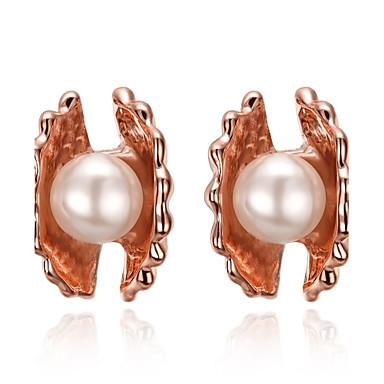 Pentru femei Cercei Stud Imitație de Perle Personalizat Floral Γεωμετρικά Design Unic Clasic Vintage Boem De Bază Natură Prietenie