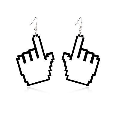 Dames Druppel oorbellen Sieraden Natuur Vriendschap Duurzaam Aanbiddelijk Opvallende sieraden Gesneden Elegant Acryl Geometrische vorm