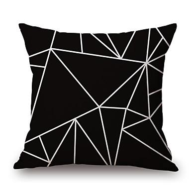 1 Stück Baumwolle/Leinen Kissenbezug,Geometrische Muster Neuheit ModischGeometrisch Retro Freizeit Traditionell-Klassisch Neoklassisch