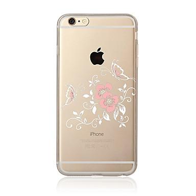 Für iPhone X iPhone 8 iPhone 8 Plus Hüllen Cover Transparent Muster Rückseitenabdeckung Hülle Blume Weich TPU für Apple iPhone X iPhone 8