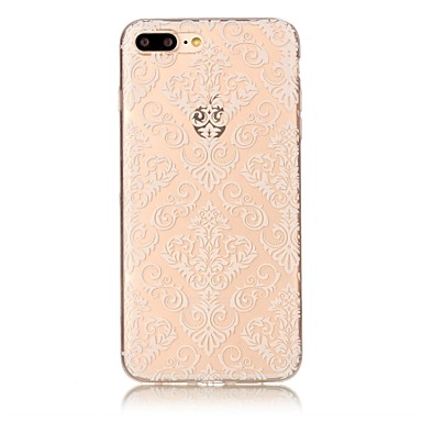 Hülle Für Apple iPhone 7 Plus iPhone 7 Transparent Muster Rückseite Blume Lace Printing Weich TPU für iPhone 7 Plus iPhone 7 iPhone 6s