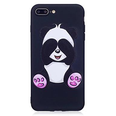 hoesje Voor Apple iPhone 7 Plus iPhone 7 Patroon Reliëfopdruk Achterkant Panda dier Zacht TPU voor iPhone 7 Plus iPhone 7 iPhone 6s Plus
