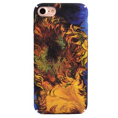 Für Apfel iphone 7 7 plus 6s 6 plus Fallabdeckung Sonnenblumemusterabziehbild-Hautsorgfalt-Touch-PC-Materialtelefonkasten