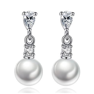 Dames Oorknopjes Druppel oorbellen Ring oorbellen Bergkristal Imitatie Parel Gepersonaliseerde Luxe Cirkelvormig ontwerp Uniek ontwerp