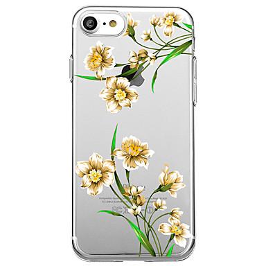 غطاء من أجل Apple شفاف نموذج غطاء خلفي زهور ناعم TPU إلى iPhone 7 Plus iPhone 7 iPhone 6s Plus iPhone 6 Plus iPhone 6s iPhone 6 iPhone