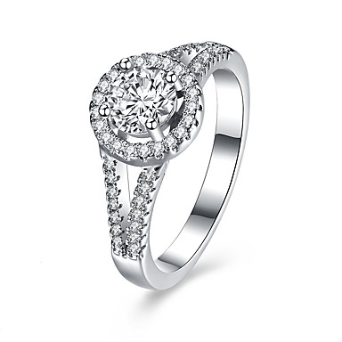 Damen Ring Einzigartiges Design Quadrat Sterling Silber Zirkon Schmuck Geburtstag Geschäft Geschenk Alltag Büro & Karriere