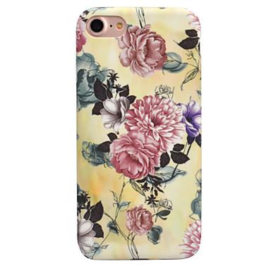 Pentru Apple iPhone 7 7 plus 6s 6 plus caz acoperă floare model decal de îngrijire a pielii touch PC material caz telefon