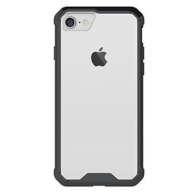 Voor apple iphone 7 7 plus 6s 6 plus case cover hoge penetratie acryl backplane tpu frame combo armor telefoon hoesje