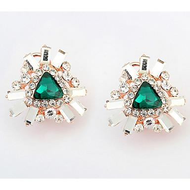 Dames Oorknopjes Druppel oorbellen Ring oorbellen Bergkristal Synthetische Diamant Basisontwerp Uniek ontwerp Logostijl Bergkristallen