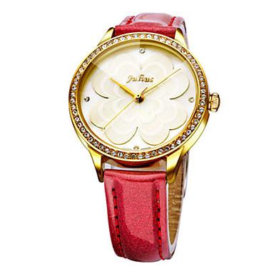 للمرأة ساعات فاشن كوارتز مقاوم للماء جلد فرقة كاجوال أسود الأبيض أحمر بني الوردي