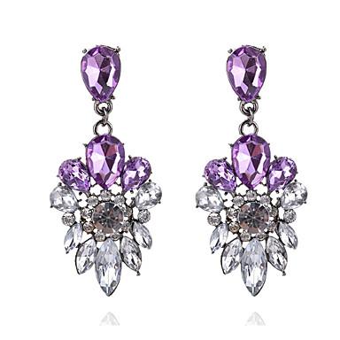 Damen Mädchen Ohrstecker Tropfen-Ohrringe Synthetischer Diamant Strass Luxus Klassisch Strass Böhmische Britisch USA Schmuck mit Aussage