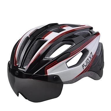 FJQXZ دراجة هوائية خوذة شهادة ركوب الدراجة 17 المخارج للجنسين مواد مضادة للماء 1680D دراجة جبلية دراجة الطريق دراجة الترفيه