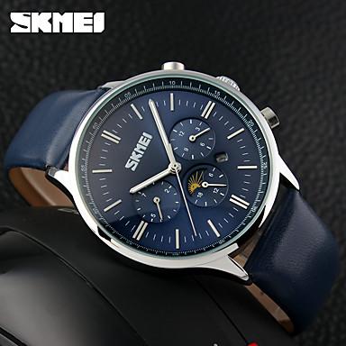 Bărbați Unic Creative ceas Ceas Sport Ceas Elegant  Ceas La Modă Ceas de Mână Chineză Quartz Calendar Rezistent la Apă Piele Autentică