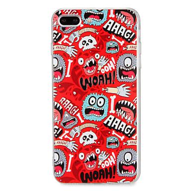 Für Apfel iphone 7 7plus Fallabdeckungsmuster rückseitige Abdeckungsfallkarikatur harter PC 6s plus 6 plus 6s 6
