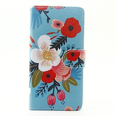 Hülle Für Huawei P9 Lite Huawei Huawei P8 Lite Kreditkartenfächer Geldbeutel mit Halterung Flipbare Hülle Ganzkörper-Gehäuse Blume Hart