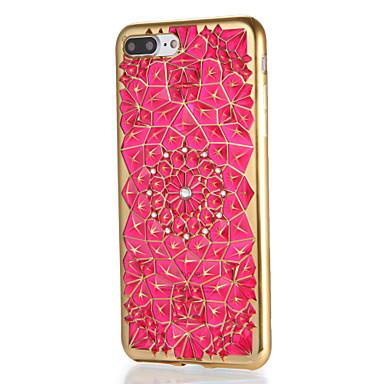 Für Apfel iphone 7 7plus Fallabdeckung Rhinestonemuster rückseitige Abdeckungsfall geometrisches Muster weiches tpu 6s plus 6 plus 6s 6