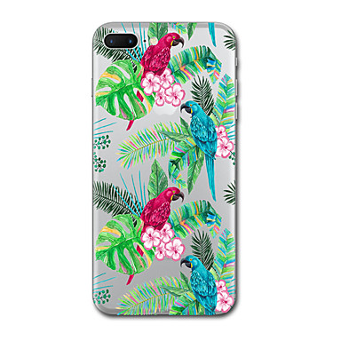hoesje Voor Apple Transparant Patroon Achterkantje Bloem dier Zacht TPU voor iPhone 7 Plus iPhone 7 iPhone 6s Plus iPhone 6 Plus iPhone