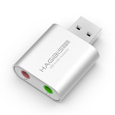 Hagibis USB External Sound Card Notebook Desktop Computer Independent External Headset Converter Professional Free Drive