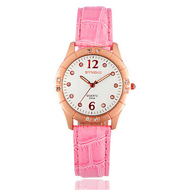 Dames Modieus horloge Digitaal horloge Digitaal PU Band Zwart Wit Rood Roze roze