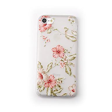غطاء من أجل Apple iPhone 7 Plus iPhone 7 مثلج شفاف نموذج غطاء خلفي زهور ناعم TPU إلى iPhone 7 Plus iPhone 7 iPhone 6s Plus ايفون 6s