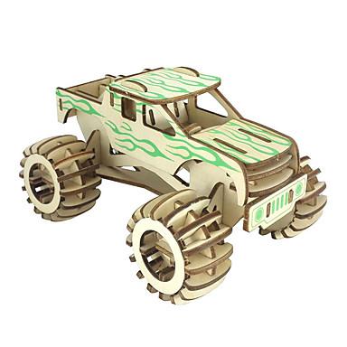 Puzzle 3D Mașină Distracție Lemn Clasic