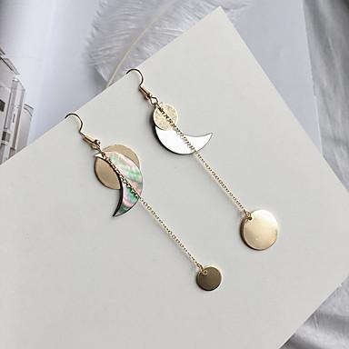 للمرأة أقراط قطرة euramerican في موضة سبيكة دائري MOON مجوهرات ذهبي فضفاض مجوهرات