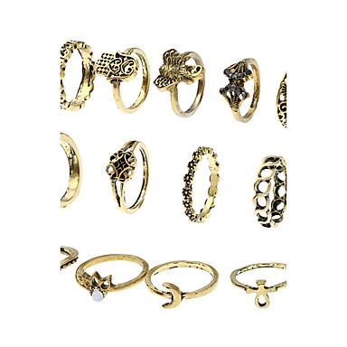 Damen Bandringe Ring Stulpring Modisch Multi-Wege Wear Euramerican Simple Style Ferrolegierung Schmuck FürAlltagskleidung Abschlussball