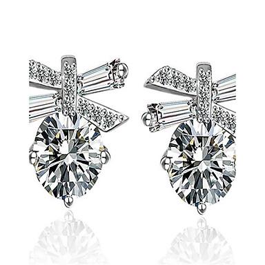 Damen Tropfen-Ohrringe Kubikzirkonia Modisch Aleación Geometrische Form Schmuck Für Hochzeit Party Veranstaltung / Fest Alltagskleidung