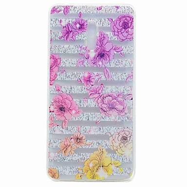 Hülle Für Nokia Transparent Muster Rückseite Blume Weich TPU für Nokia 6