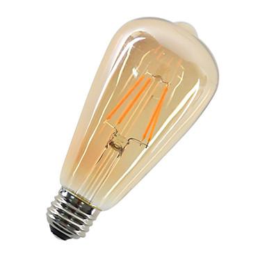 1pc 4W 360lm E26 / E27 LED Glühlampen ST64 4 LED-Perlen COB Dekorativ Warmes Weiß 220-240V