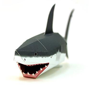 3D - Puzzle Papiermodel Papiermodelle Modellbausätze Quadratisch Fische Shark 3D Heimwerken Hartkartonpapier Klassisch Unisex Geschenk