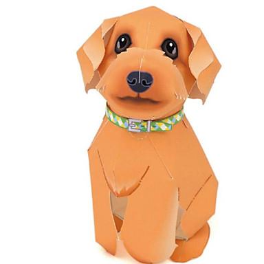 3D-puzzels Bouwplaat Papierkunst Modelbouwsets Honden Dieren Simulatie DHZ Klassiek Schattig Unisex Geschenk