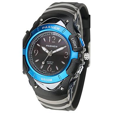 للرجال ساعة رياضية ساعات فاشن رقمي مقاوم للماء مطاط فرقة أسود أزرق الوردي