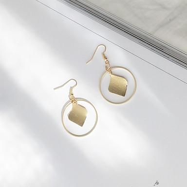 للمرأة أقراط قطرة شرابة euramerican في سبيكة Geometric Shape مجوهرات يوميا فضفاض