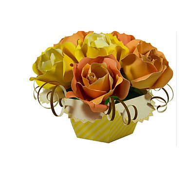Puzzle 3D Puzzle Lucru Manual Din Hârtie Μοντέλα και κιτ δόμησης Trandafiri Floare 3D Simulare Reparații Clasic Unisex Cadou