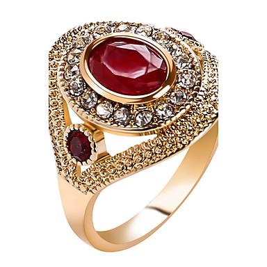 Dames Statementringen Ring Kristal Gepersonaliseerde Luxe Uniek ontwerp Klassiek Vintage Tekojalokivi Bohémien Standaard Bergkristallen