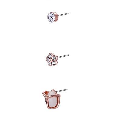 Pentru femei Cercei Stud Cristal Zirconiu Cubic Sintetic Opal Imitație de Perle Personalizat Γεωμετρικά Design Unic Stil Atârnat Ciucure