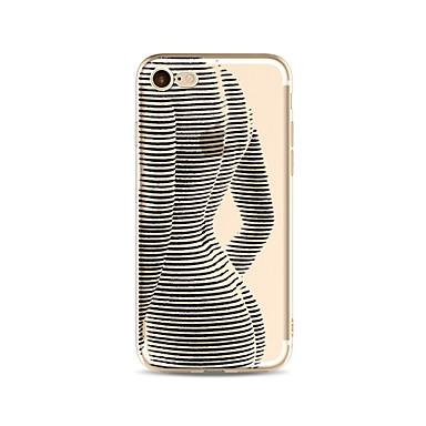 hoesje Voor Apple iPhone X iPhone 8 Plus Transparant Patroon Achterkantje Sexy dame Zacht TPU voor iPhone X iPhone 7s Plus iPhone 8