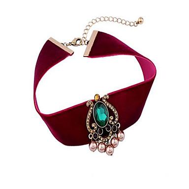 Pentru femei Coliere Choker Imitație de Perle Geometric Shape Aliaj Personalizat Lux Boem Bijuterii Pentru Petrecere Alte Scenă Ieșire