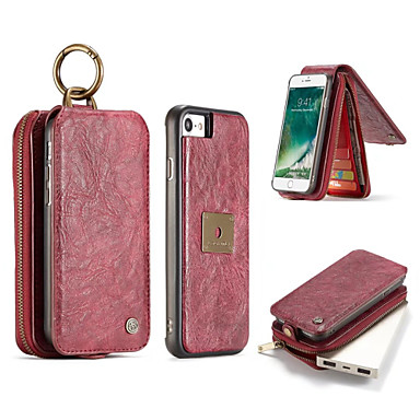 Case voor iphone 7 plus 7 geval luxe retro multifunctionele 2 in 1 second layer leren portemonnee magneet achterkant 6 plus 6